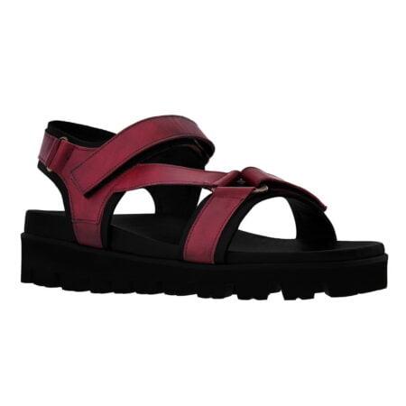 burgundy sandals for man