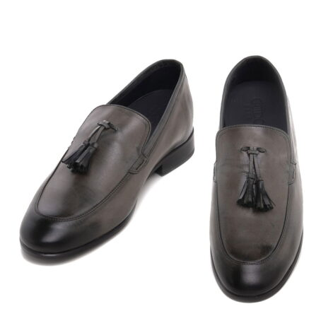 dark brown opera loafers with leather tassels 2