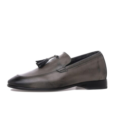 dark brown opera loafers with leather tassels 3