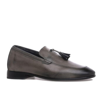 dark brown opera loafers with leather tassels