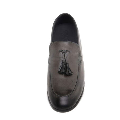 dark brown opera loafers with leather tassels 4