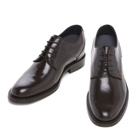 classic derby shoes shiny effect 2