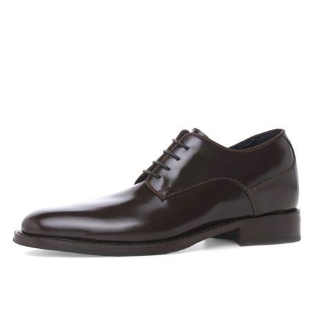 classic derby shoes shiny effect