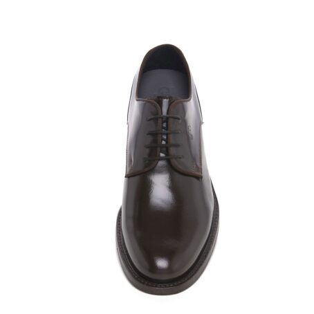 classic derby shoes shiny effect 4