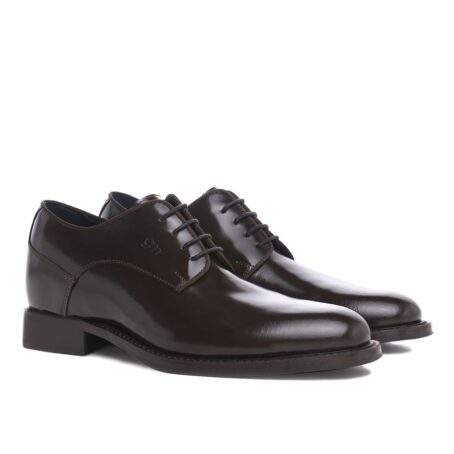 classic derby shoes shiny effect 5