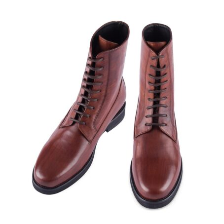 red bordeux leather boots 2