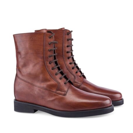 red bordeux leather boots 5