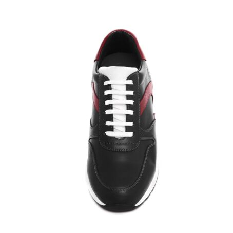 black sneakers with red leather details 4