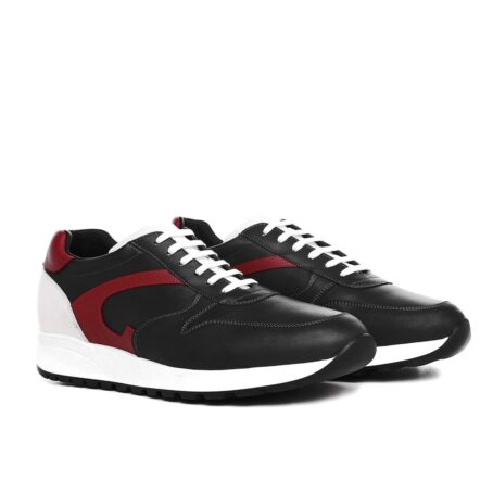 black sneakers with red leather details 5