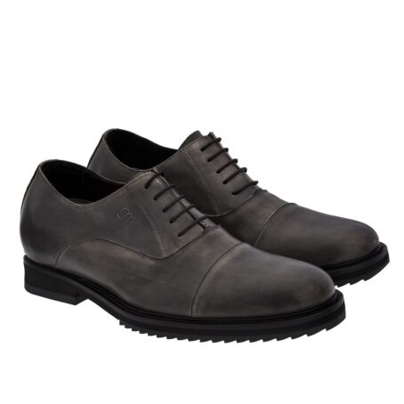 dark leather oxford shoes with aged effect 5