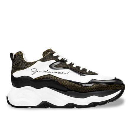 black and gold elevator chunky sneakers 1