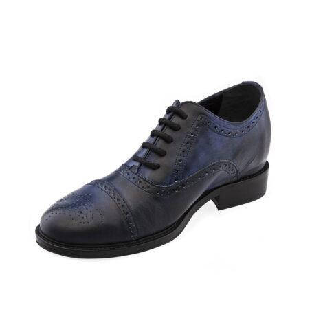 dark blue oxford medallion cap toe barmoral brogue 3