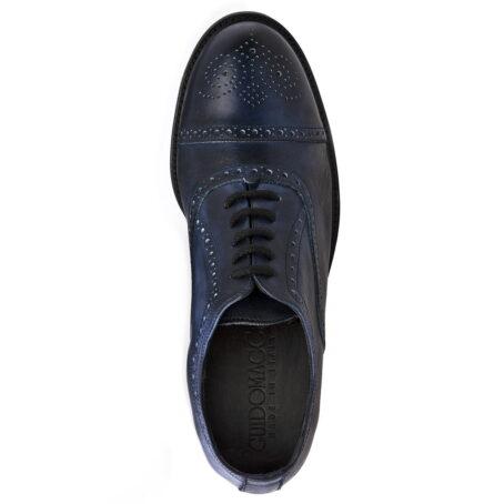 dark blue oxford medallion cap toe barmoral brogue 5