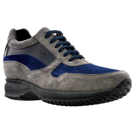 Leather sneaker with raised heel for short menu guidomaggi switzerland