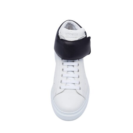 white sneakers with black stripe 4