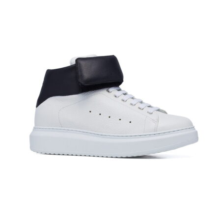 white sneakers with black stripe 1