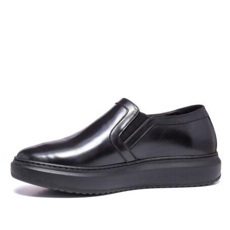 shiny black slip-ons 3