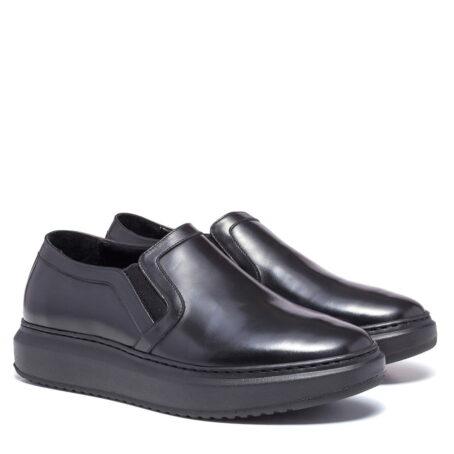 shiny black slip-ons 5