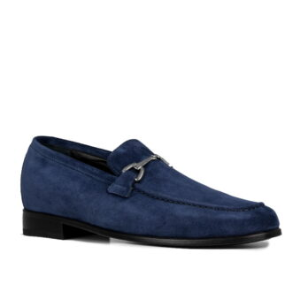 horsebit blue suede loafers 1