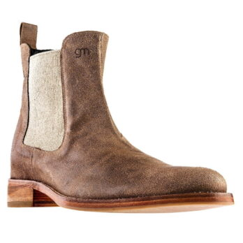 brown waxed aged chelsea boots 1