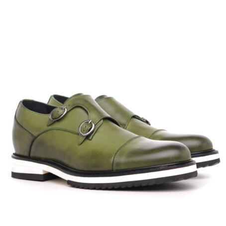 olive green patina effects cap toe balmoral 5