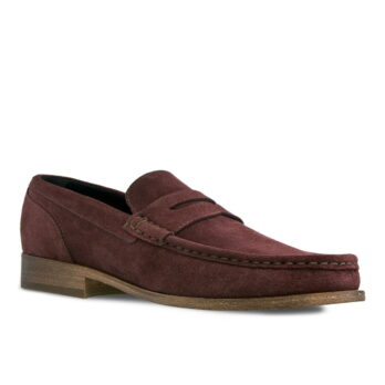 burgundy suede mocassini 1