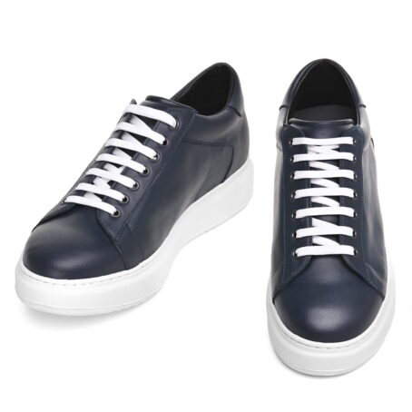 leather sneakers with white cotton laces 2