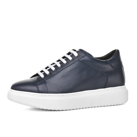 leather sneakers with white cotton laces 3