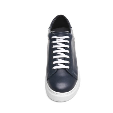 leather sneakers with white cotton laces 4