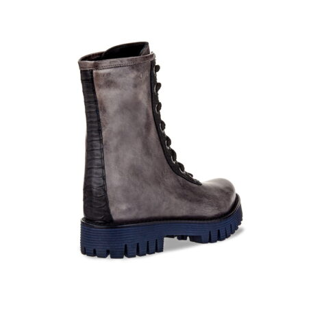 leather boots with crocodile inserts for men with height increase guidomaggi switzerland