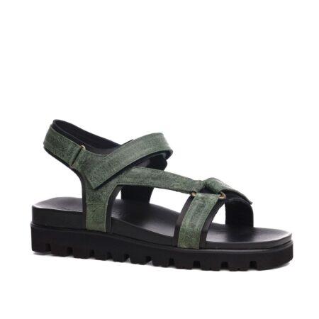 green elevator sandals 2