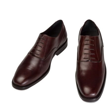 brown classic and elegant oxford dress shoes 2