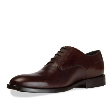 dark brown classic and elegant oxford dress shoes