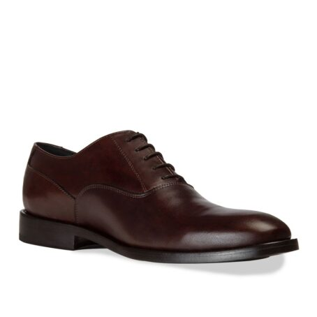 brown classic and elegant oxford dress shoes 1