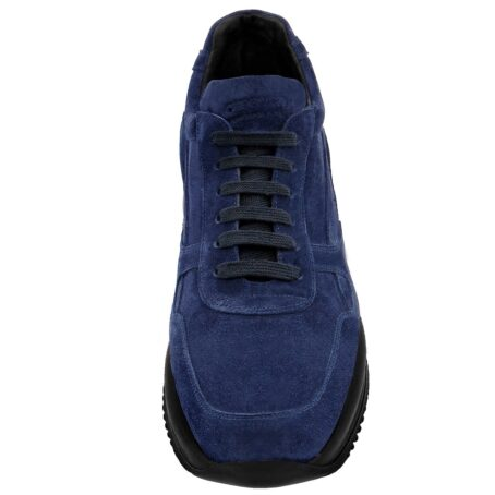 blue navy suede sneakers with black outsole 3