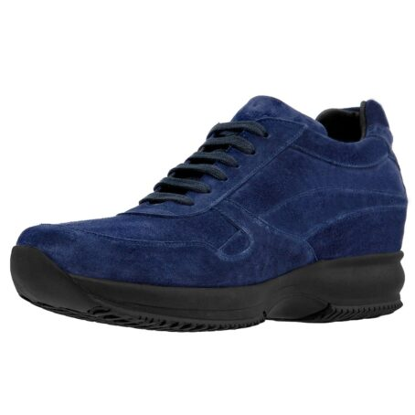 blue navy suede sneakers with black outsole 4