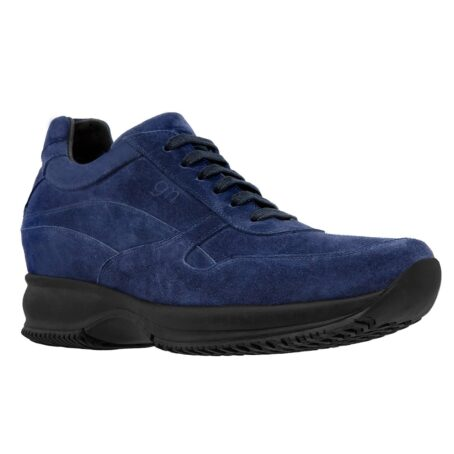 blue navy suede sneakers with black outsole 1