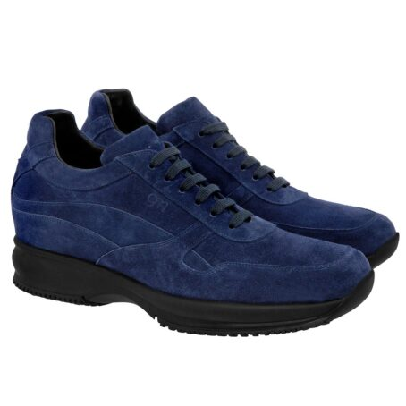 blue navy suede sneakers with black outsole 5