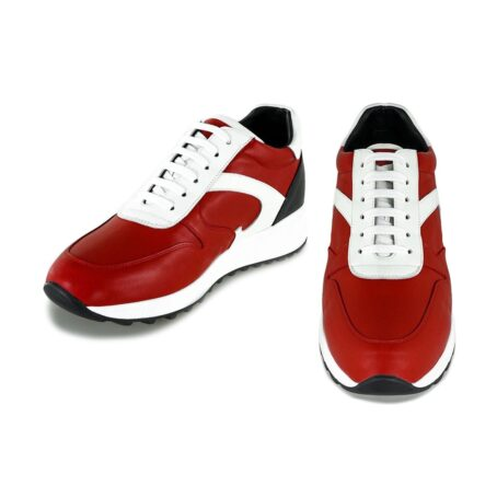 red sneakers with height increase guidomaggi switzerland