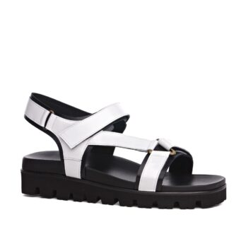 white elevator sandals 2