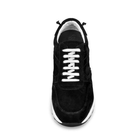 black suede sneakers with white laces 5
