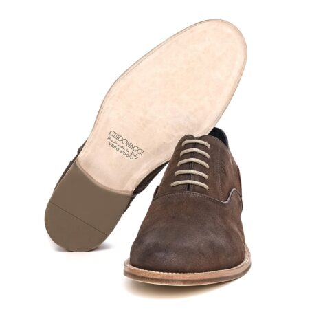 dark suede waxed aged leather oxford shoes 6