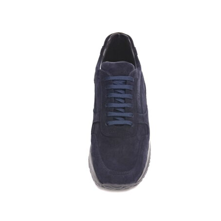 black suede sneakers for man with elevator insole 4