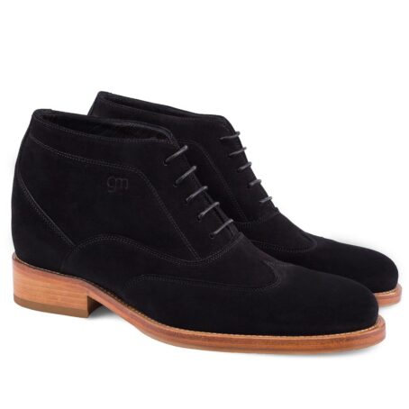 black suede chukka ankle boots with brown outsole 5