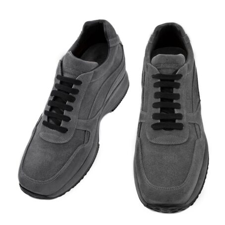 dark grey suede sneakers 2