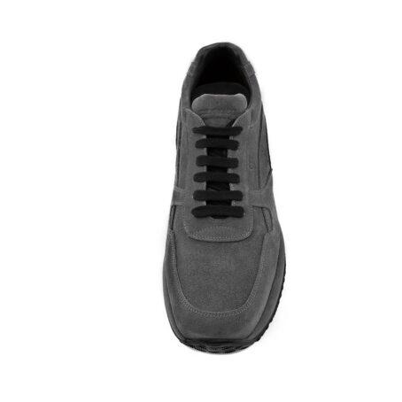 smoke grey suede sneakers 3