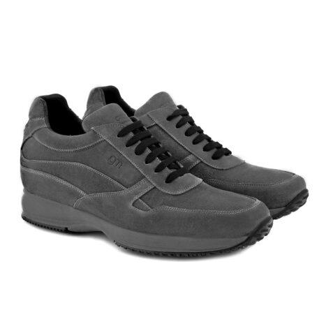 dark grey suede sneakers 4