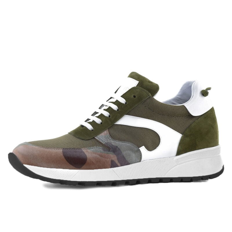 Green Sneaker for short men Guidomaggi