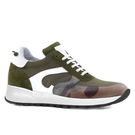 Green Sneaker for short men Guidomaggi