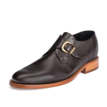 monk strap dark leather shoes 3